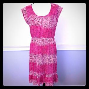Women's Pink & White Floral Dress